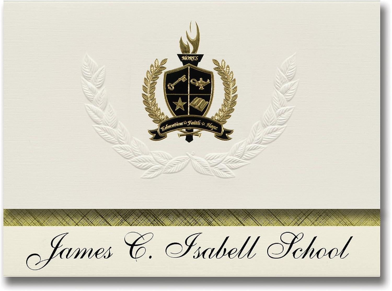 Signature Ankündigungen James James James C. Isabell Schule (Teller, AK) Graduation Ankündigungen, Presidential Stil, Elite Paket 25 Stück mit Gold & Schwarz Metallic Folie Dichtung B078TTFQ8T | Verbraucher zuerst  e25138