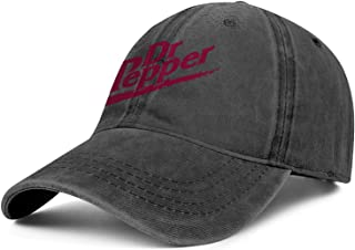 Mens Womens Dr-Pepper- Adjustable Vintage Summer Hats Baseball Washed Dad Hat Cap