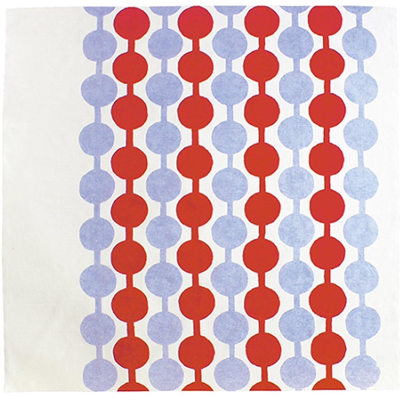 ぐるぐる思い出ラッドヤードキップリング二四巾 竹久夢二 約90cm風呂敷 綿100% (つなぎだんご アカ)