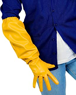 uxcell Women Moon Star Print Short Fingerless Gloves Wrist Warmer Mitts Pair Yellow free