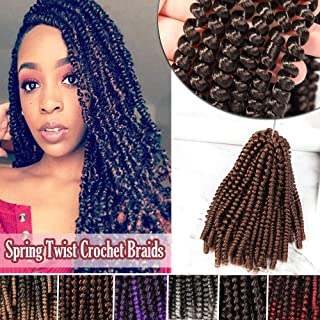 8 Inch Curly Fluffy Twist Braiding Synthetic Hair Extensions Bomb Twist Crochet Braids Hairpieces Jamaican Bounce 3 Packs Auburn