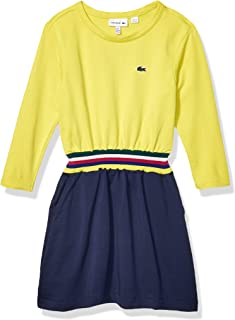 Lacoste Girls Fleece Feminine Dress With Elasticated Waist Band