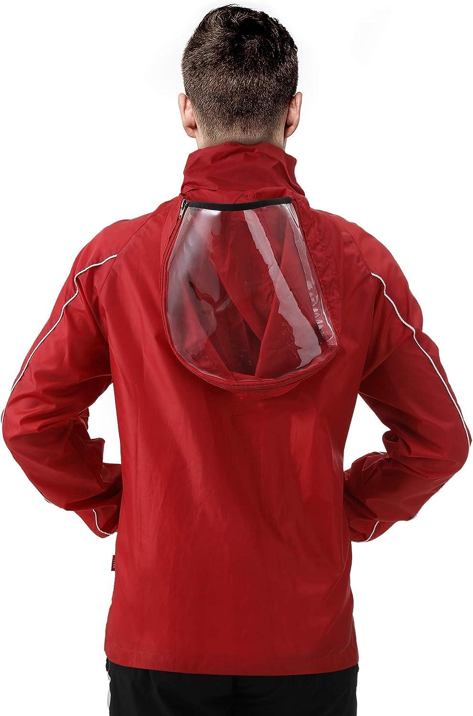 PEAK Rain Jacket for Men Lightweight Rain Coat Waterproof Hooded Windbreaker for Adults