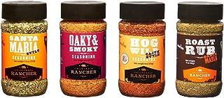 Ultimate Seasoning Set by California Rancher, 4 Craft BBQ Dry Rubs & Seasonings