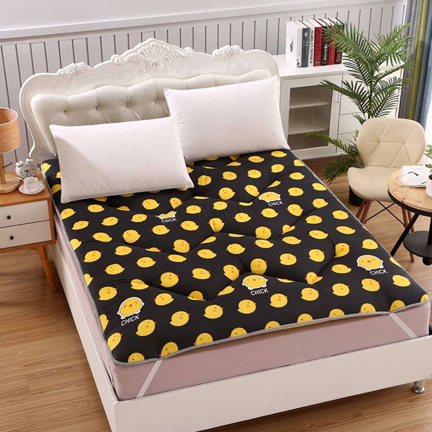 Folding Mattress,Mattress Pad,Hypoallergenic, Student Collapsible for Household Bedroom-F 100x200cm(39x79inch)
