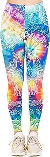 Women Tie Dye Leggings High Waist Yoga Skinny Pants Elastic Tights