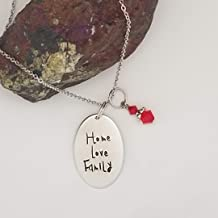 Home Love Family - Anastasia inspired hand stamped necklace