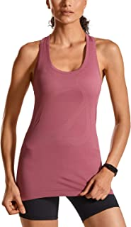 CRZ YOGA Women's Activewear Cool Mesh Workout Running Tank Tops Quick Dry
