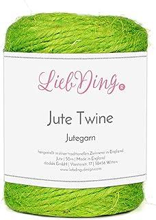 LiebDing Jutegarn   Juteschnur in 2mm aus Einer traditionellen Zwirnerei in England   Jute-Kordel   Bastelschnur   Schnur   Juteband in Apfel-Grün