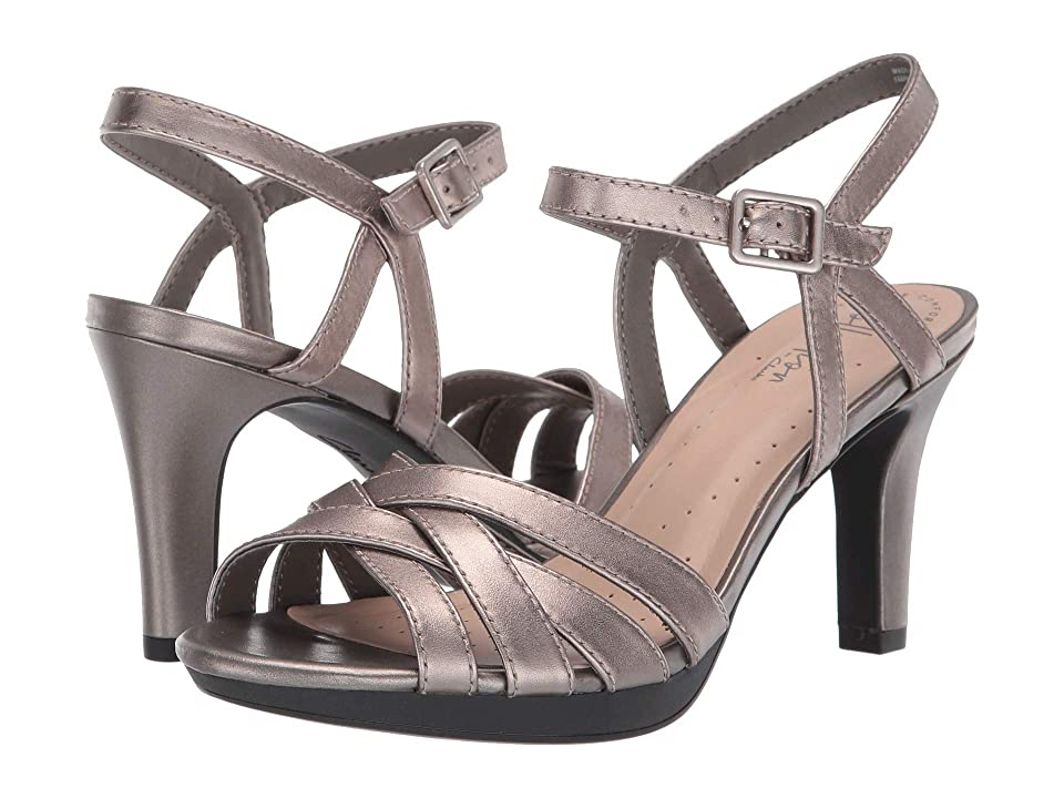 Clarks Adriel Wavy (Pewter Leather) High Heels