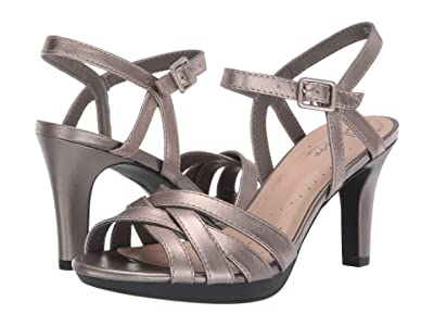 Clarks Adriel Wavy (Pewter Leather) High Heels