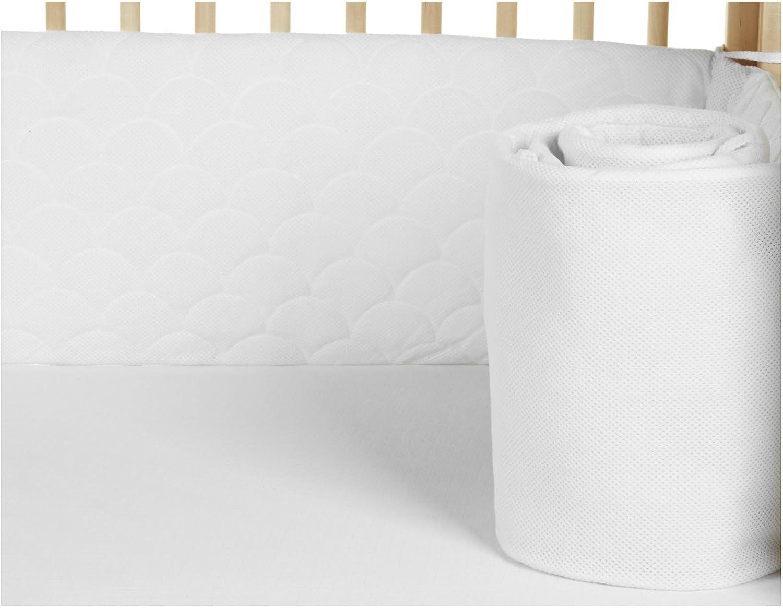 Lifenest Breathable & Padded Mesh Crib Liner - White