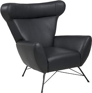 Amazon Brand - Movian Galga - Silla relax, 90 x 105 x 98 cm (largo x ancho x alto), piel sintética negra