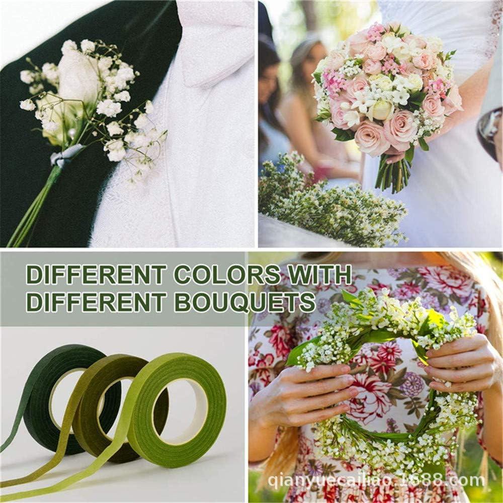 3 Coloreado 12 Mm Alambre Floral Kit Arreglo Florista Stem Wrap 9//15 Tape Stem Rollo Para Los Ramilletes Bouquet Cinta 9 Pcs 30 Yard
