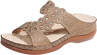 Slingback Peep Toe Sandalen voor dames, met strass, comfortabele strandsandalen, slippers, slippers, slippers, zomersandalen.