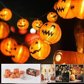 Halloween Ljusslinga Pumpa, bekose Beige Halloween Ljuskedja Uutomhus 3 m 20 LED Bollform Lampskärm Trädgårdslykta Hallowe...
