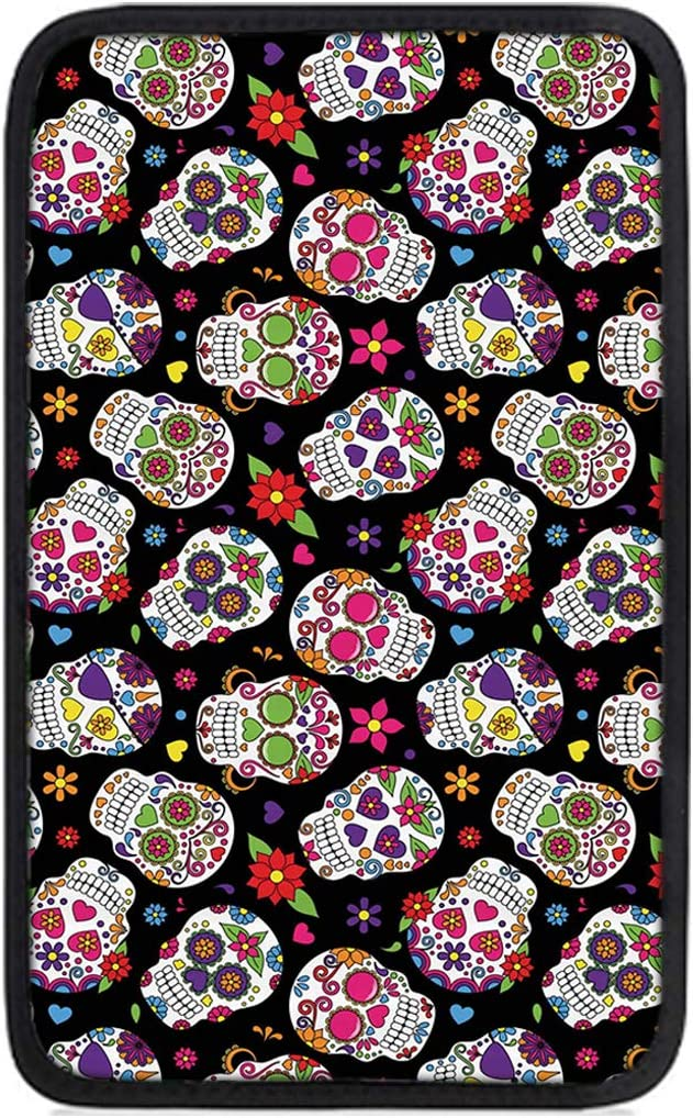 Deeprinter Mesa Mall New Shipping Free Shipping Sugar Skull Auto Center Cover Armrest Console Protect