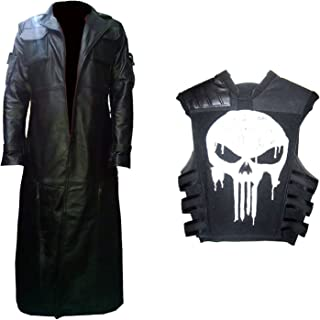 Punisher Deal The Punisher Frank Castle Jane Leather Trench Coat & Vest