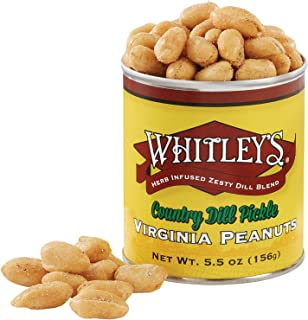 Whitley's Country Dill Pickle Virginia Peanuts 5.5 Ounce Tin