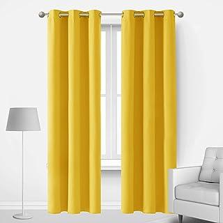 Deconovo Sound Blocking Blackout Curtains for Living Room, Energy Efficient Room Darkening Curtains Drapes for Sliding Gla...
