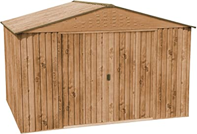 Gris UnfadeMemory Caseta de Almacenamiento de Metal de Jard/ín,Cobertizo Exterior para Almacenar Herramientas con Marco en Suelo de Acero,190x124x181cm