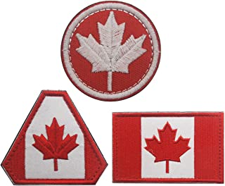 Homiego Canada Flag Embroidered Patch Canadian Maple Leaf Iron On Sew On National Emblem for Backpack,Uniforms (Canada Flag A)