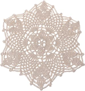 dfsdmlp Cotton Mat Hand Crocheted Lace Doilies Flower Shape Coasters Cup Mug Pads