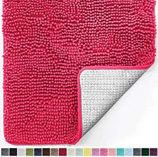 Gorilla Grip Original Luxury Chenille Bathroom Rug Mat, 48×24, Extra Soft and..