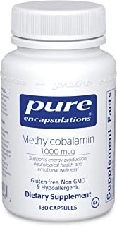 Pure Encapsulations Methylcobalamin 1,000 mcg | Vitamin B12 Supplement to Support Memory, Nerves, and Cognitive Health* | ...