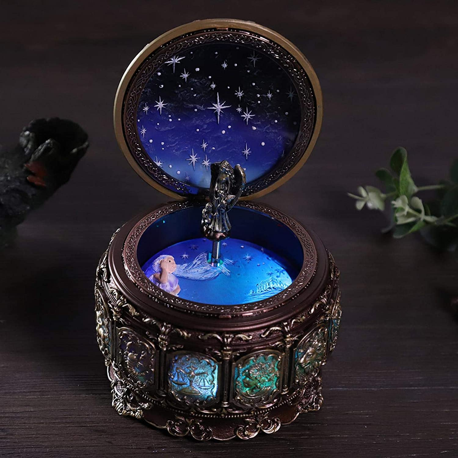Free shipping anywhere in Some reservation the nation Omabeta Musical Box 12 Constellations Valenti for Music Gift
