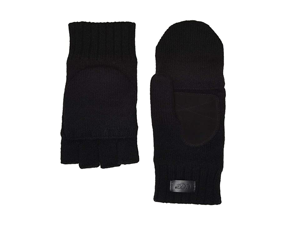 UGG Flip Knit Mitten (Black) Over-Mits Gloves