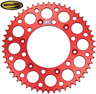 Renthal Rear Wheel Sprocket Red 50T with Keepitroostin Sticker Fits Honda Cr80 Cr85 1996-2007