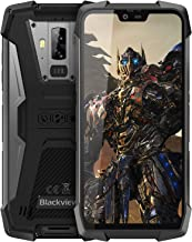 Rugged Cell Phones Unlocked, Blackview BV9700 Pro 4G Rugged IP68 Waterproof Drop Proof Smartphones, Octa Core 6GB+128GB 5.8 inches FHD Screen Android 9.0 4380mAh Battery Dual Sim Mobile Phone, Black