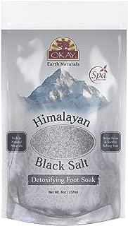 OKAY Pure Naturals Sal negra del Himalaya, 8 onzas, 0.22 kg