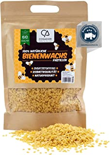 Cosador Bio Bienenwachs Pastillen 500g - besonders, natürliches Bienenwachs Bio - garantiert zertifizierte Qualität - Bienenwachs Bio für Kosmetik