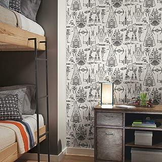 "RoomMates Star Wars Blueprint Peel and Stick Wallpaper 20.5"" x 16.5 feet RMK11036WP 1"