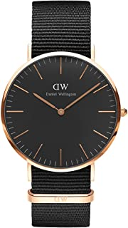 Daniel Wellington Classic Cornwall, orologio da uomo, colore nero/oro rosa, 40 mm, NATO, per uomo prezzo