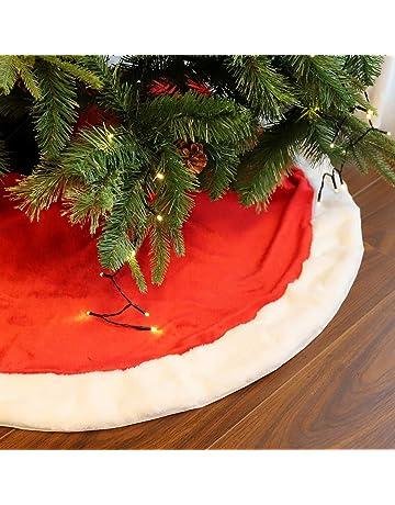 Colore: Bianco Silver /& White Xueliee Misura Grande in Finta Pelliccia Copri Base per Albero di Natale 121,9 x 91,4 cm 36inch//90cm