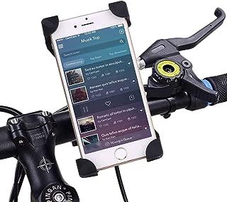 IBRA Bike Phone Mount - Negro Soportes teléfono móvil Soporte Universal para Bicicleta y Motocicleta para iPhone 7 6S 6 Plus 5s 5c, Galaxy S7 S6 S5 S4 S3,Nota,Nexus,Nokia, HTC Otros Smartphone y GPS