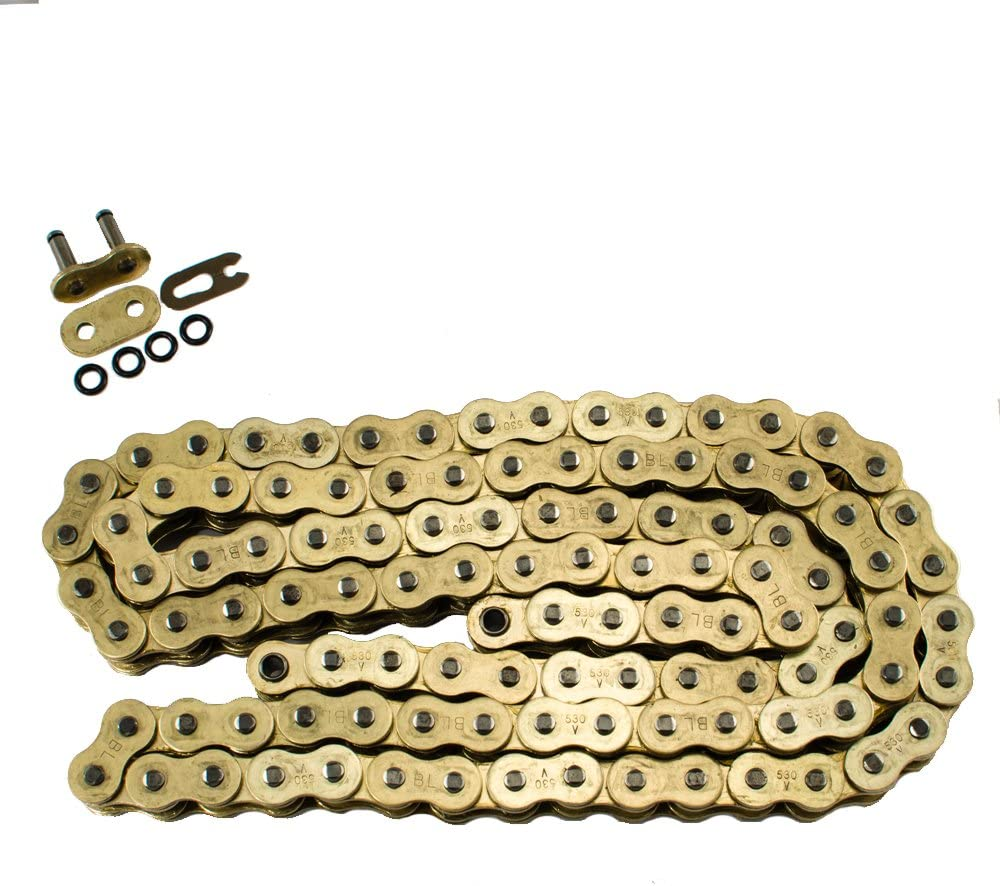 530 Pitch 120 Links Black O-Ring Chain for Kawasaki 750 H2 1972 1973 1974 1975