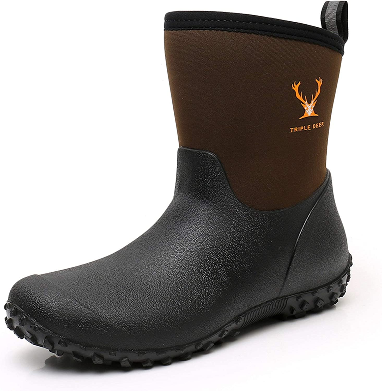 Women's Mid Calf Financial sales sale Boston Mall Rubber Rain Neoprene - Waterpro Insulated Boots