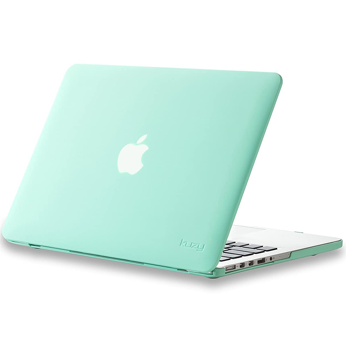 Kuzy - Older Version MacBook Pro 13.3 inch Case (Release 2015-2012) Soft Touch Cover for Model A1502 / A1425 with Retina Display Hard Shell Plastic - Mint Green