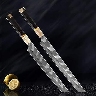 Octogonales poignée Couteau de chef AUS-10 Damas Saumon en acier Couteau de cuisine professionnelle poisson Sashimi coutea...