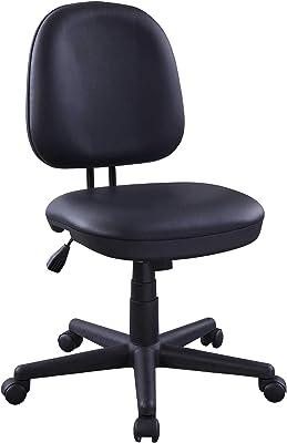 "Lorell Vinyl Task Chair, 38.5"" x 24"" x 17.8"", Black"