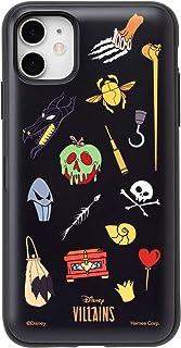 ディズニー ヴィランズ Latootoo iPhone11/XR ケース カード収納型 ミラーシート付き [総柄]