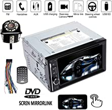 6 inch Car Stereo Touchscreen BT USB CD DVD Car Radio 2Din FM/AM Touchscreen Steering Wheel Control + Rear Camera for 05-11 Toyota Tacoma, 03-07 Toyota Tundra Sequoia, 12-14 Toyota Hilux
