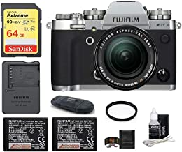 Fujifilm X-T3 Mirrorless Digital Camera with XF 18-55mm f/2.8-4 R LM OIS Zoom (Silver) Bundle, Includes: SanDisk 64GB Extreme SDXC Memory Card, Spare Fujifilm NP-W126S Battery + More