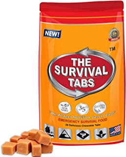 Survival Tabs - 2-Day Food Supply - Emergency Survival Food MRE for Outdoor Activities Gluten-Free, Non-GMO The Survival T...