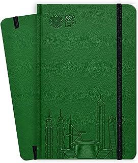 Expo 2020 Dubai A5 Note Book Dubai Skyline Green - 13.5 x 21 x 1.4 cm