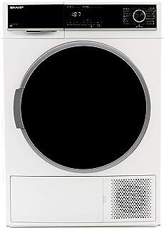 Sharp KD-HHH8S7GW2-DE Wärmepumpentrockner/A / 8 kg/BubbleDrum-Schontrommel inkl. Trommel-Innenbeleuchtung / 15 Trockenprogramme / 30-minütigen Schnellprogramm/Wechselbarer Türanschlag/Weiß